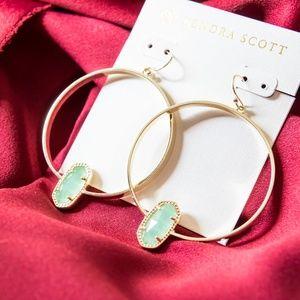 KENDRA SCOTT ELORA EARRINGS IN CHALCEDONY GLASS